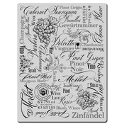 Wine Labels - Stampendous Cling Rubber Stamp