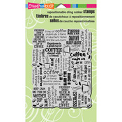 Coffee Background - Stampendous Cling Rubber Stamp