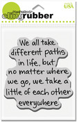 Life Path - Stampendous Cling Rubber Stamp