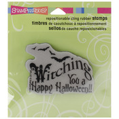 """Witching You - Stampendous Halloween Cling Rubber Stamp 3.5""""X4"""" Sheet"""