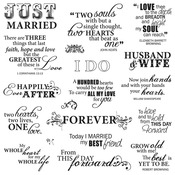 Just Married - Fiskars Quote Clear Stamps