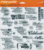 Make A Wish - Fiskars Quote Clear Stamps