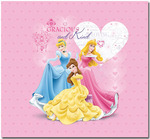 "Princess Glitter & Embossed Post Bound Album 12""X12""-"