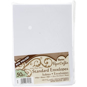 "White - Smooth A7 Envelopes (5.25""X7.25"") 50/Pkg"