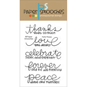 Pretty Phrases - Paper Smooches Clear Stamps