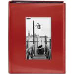 "Red - Sewn Frame Photo Album 7""X9"" 200 Pockets"