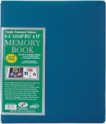 "Seabreeze Blue - Family Treasures Deluxe Fabric Post Bound Album 8.5""X11"""