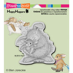 Bunny Luv - Stampendous HappyHopper Cling Rubber Stamp