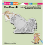 Easter Bunny - Stampendous HappyHopper Cling Rubber Stamp