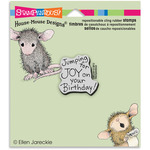 "Joy Birthday - Stampendous House Mouse Cling Rubber Stamp 3.5""X4"" Sheet"