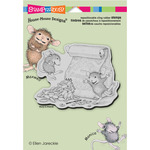 Caffeine High - Stampendous House Mouse Cling Rubber Stamp