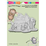 Birthday Cone - Stampendous House Mouse Cling Rubber Stamp