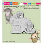 Baby Blocks - Stampendous House Mouse Cling Rubber Stamp