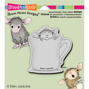 Warm Cup - Stampendous House Mouse Cling Rubber Stamp