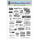 Heart To Heart Greetings - Hot Off The Press Acrylic Stamps