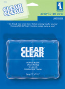 "Clear On Clear Large 5""X3.5"" AcrylicBlock  - Inkadinkado"
