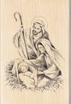 Nativity - Inkadinkado Christmas Mounted Rubber Stamp