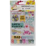 "Birthday - Insta-Scrap Stickers 4""X6"" Sheets 3/Pkg"