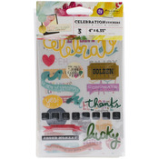 "Celebration - Insta-Scrap Stickers 4""X6"" Sheets 3/Pkg"