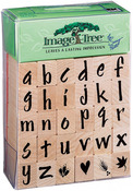 Susy Ratto Brush Letter Alphabet/Lower - Image Tree Handle Rubber Stamp Set