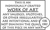 Work Of Art - Judikins Rubber Stamp