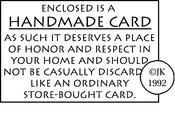 Handmade Card - Judikins Rubber Stamp