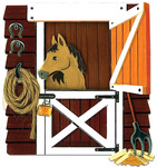 """Horse In Stable - Jolee's By You Dimensional Embellishments 4""""X4"""" Sheet"""