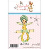 Sketchie - Saturated Canary Unmounted Rubber Stamp