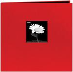 "Red - Book Cloth Cover Post Bound Album 12""X12"""