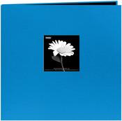 """Sky Blue - Book Cloth Cover Post Bound Album 12""""X12"""""""