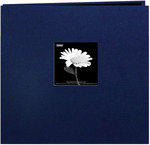 "Regal Navy - Book Cloth Cover Post Bound Album 12""X12"""