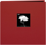 "Burgundy - Book Cloth Cover Post Bound Album 12""X12"""