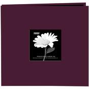 "Sweet Plum - Book Cloth Cover Post Bound Album 8""X8"""