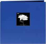 """Cobalt Blue - Book Cloth Cover Post Bound Album 8""""X8"""""""