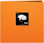 Orange 8 x 8 Cloth Cover Post Bound Album