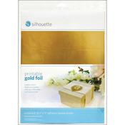 "Gold - Silhouette Printable Adhesive Foil 8.5""X11"" 8/Pkg"