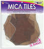 Mica Tile Large Pieces 2oz US ART QUEST-Mica Tiles are 100% natural, heat resistant, multi-layered, transparent, acid-free, and archival safe.  Each tile has their own distinctive variations and markings, are remarkably versatile creative elements, adds organic character, and color and texture to every project!  Can be used for stamping, scrapbooking, cards, ornaments, collage, jewelry making, photo transfers, altered art, and much more!  Simply tear, cut with scissors, or diecut then adhere them to virtually any surface. Size:  6 x 8.  Approximate size:  2 oz.