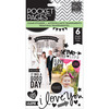 Love Clear Stickers - Pocket Pages - Me & My Big Ideas ME & MY BIG IDEAS-Pocket Pages. These clear stickers are great for card making and scrapbooking. This package contains six 9x4-3/4 inch sheets of clear stickers. Available in a variety of designs, each sold separately. Imported.