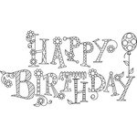 Sparkle Happy Birthday - Hampton Art Mounted Rubber Stamp