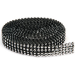 4 Rows, Black & Silver - Bling On A Roll 3mmX3yd