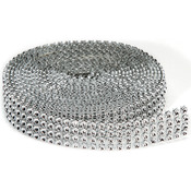 4 Rows, Silver - Bling On A Roll 3mmX3yd