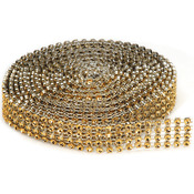 4 Rows, Gold - Bling On A Roll 3mmX3yd