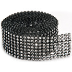 8 Rows, Black & Silver - Bling On A Roll 3mmX2yd