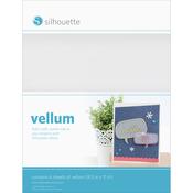 "Translucent White - Silhouette Vellum Sheets 8.5""X11"" 6/Pkg"