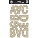 Gold Glitter - Large Alphabet Stickers
