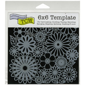 "Flower Frenzy - Crafter's Workshop Template 6""X6"""