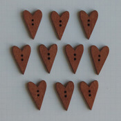 """Stained Hearts .5""""X1"""" - Wooden Buttons 10/Pkg"""