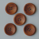 "Vintage Stained 1.25"" - Wooden Buttons 5/Pkg"