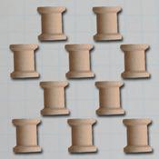 "Vintage Beading Spool .75""X.6"" - Wooden Shapes 10/Pkg"
