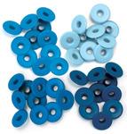 Blue - Eyelets Wide 40/Pkg
